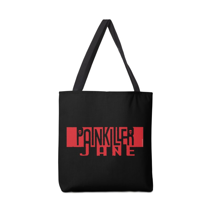Painkiller Jane - Amanda Conner  (Red Logo) Accessories Tote Bag Bag by Paper Films