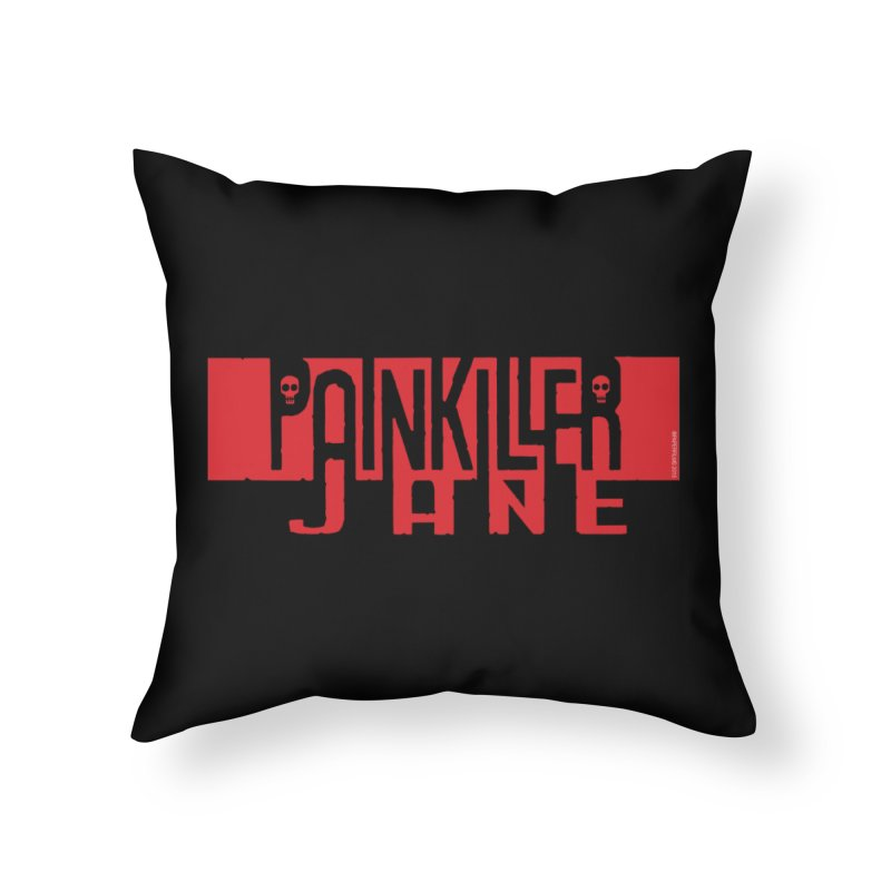 Painkiller Jane - Amanda Conner  (Red Logo) Home Throw Pillow by PaperFilms's Artist Shop