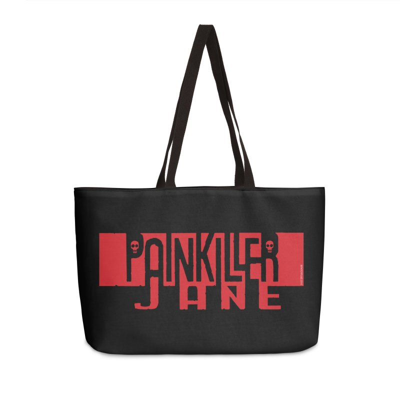 Painkiller Jane - Amanda Conner  (Red Logo) Accessories Weekender Bag Bag by Paper Films