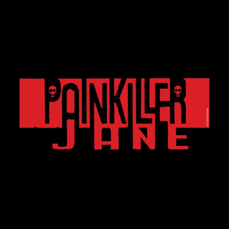 Painkiller Jane - Amanda Conner  (Red Logo) Men's Zip-Up Hoody by Paper Films