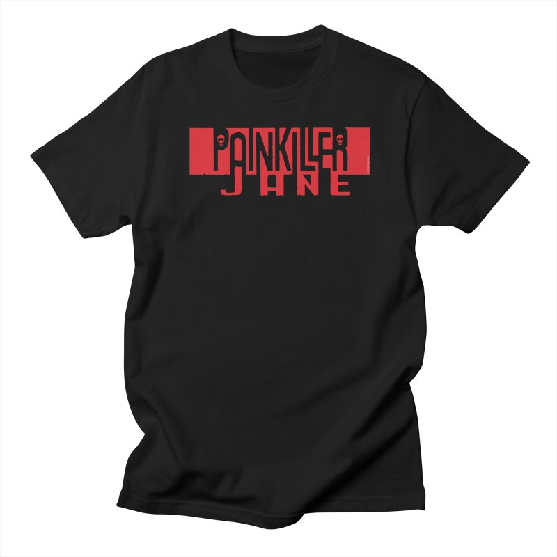 Painkiller Jane - Amanda Conner  (Red Logo) in Men's Regular T-Shirt Black by PaperFilms's Artist Shop