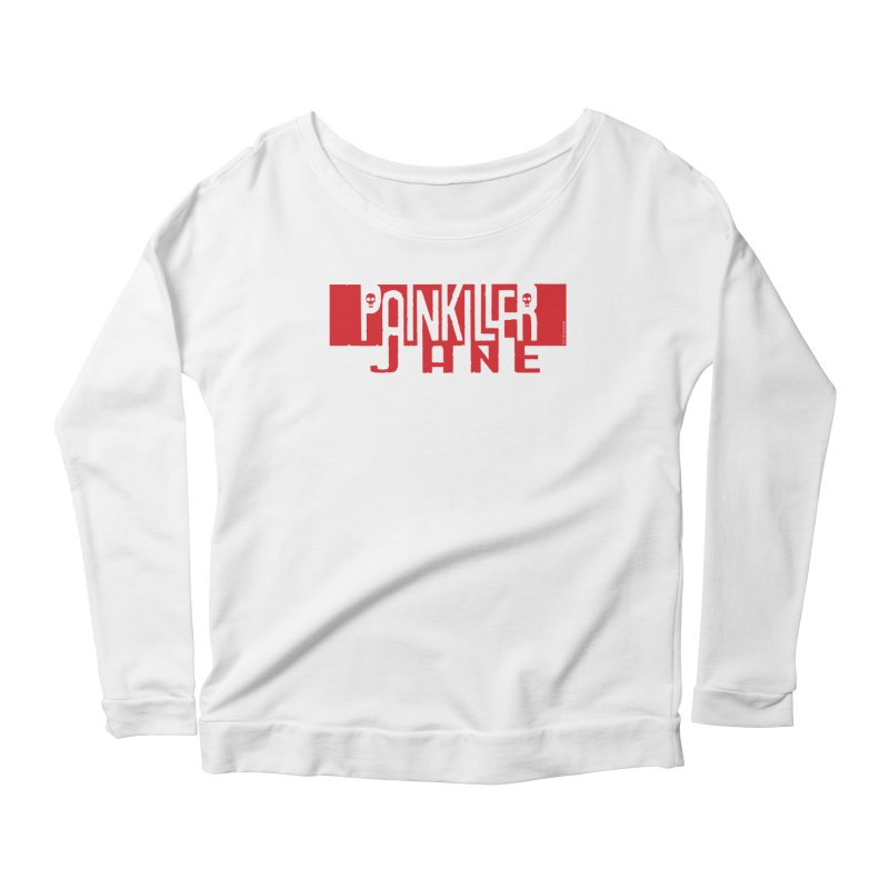 Painkiller Jane - Amanda Conner  (Red Logo) Women's Longsleeve T-Shirt by PaperFilms's Artist Shop