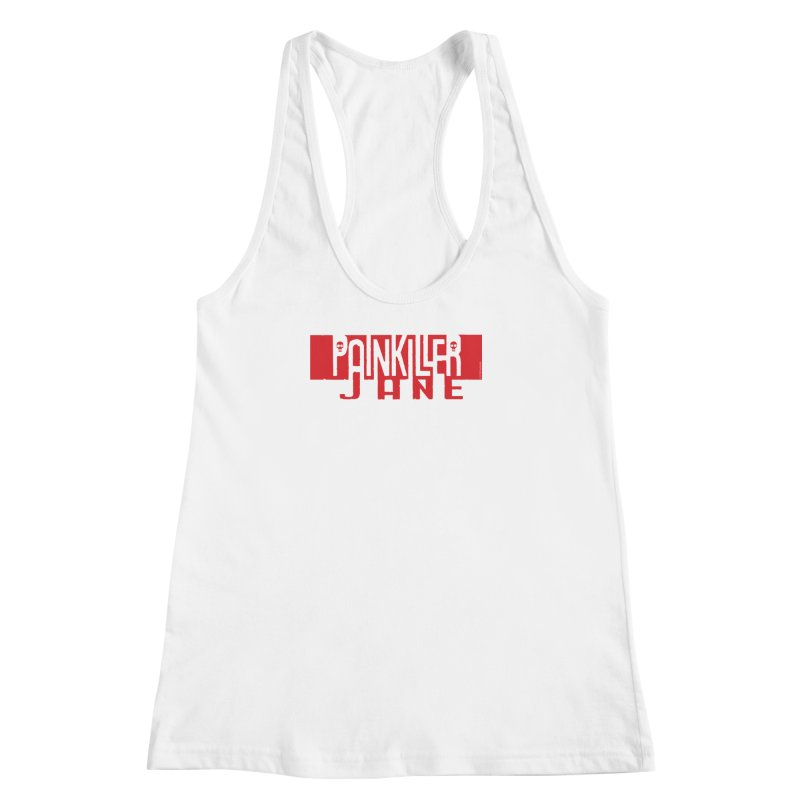 Painkiller Jane - Amanda Conner  (Red Logo) Women's Racerback Tank by PaperFilms's Artist Shop