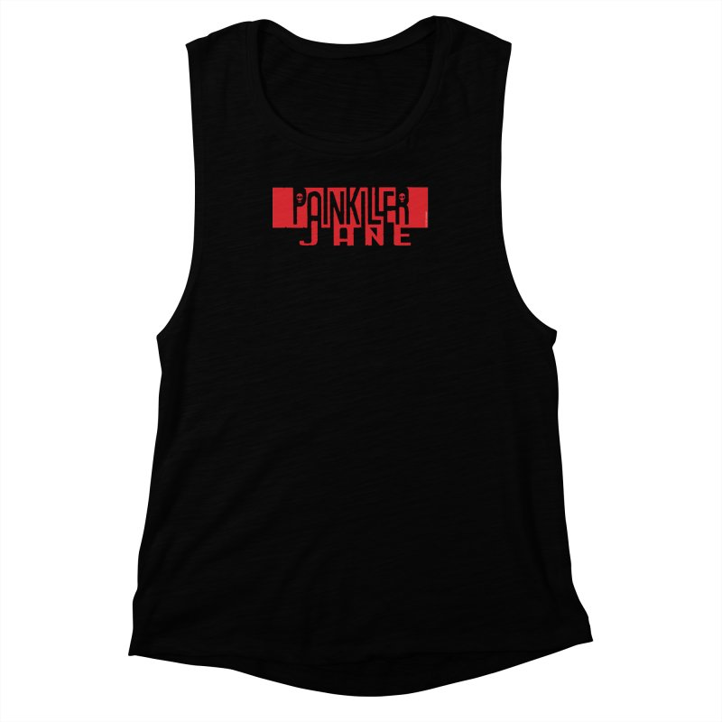 Painkiller Jane - Amanda Conner  (Red Logo) Women's Muscle Tank by PaperFilms's Artist Shop