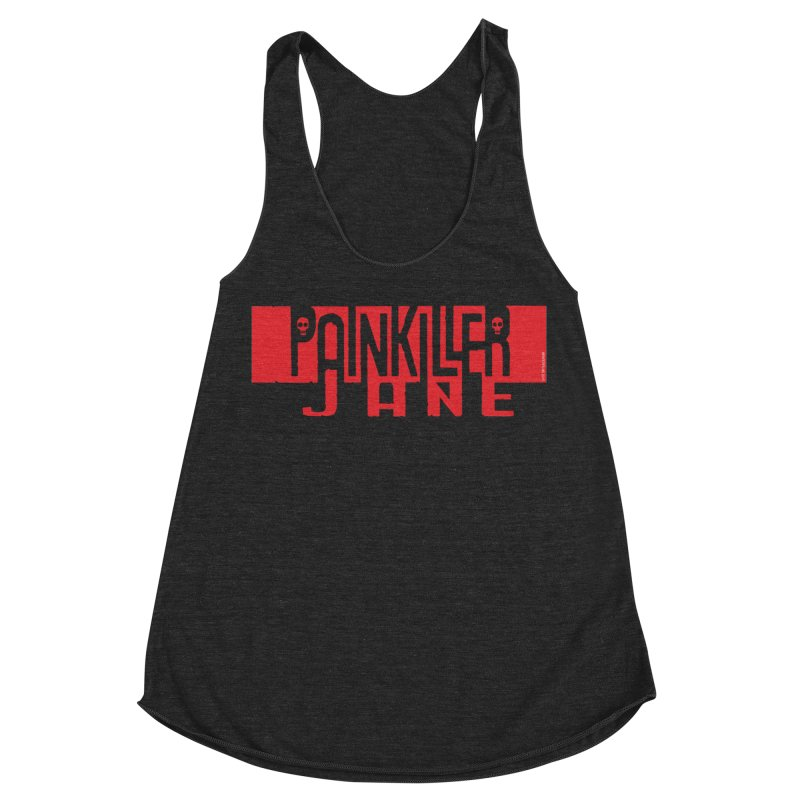 Painkiller Jane - Amanda Conner  (Red Logo) Women's Racerback Triblend Tank by Paper Films