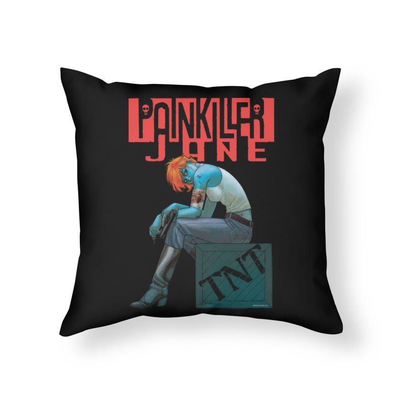 Painkiller Jane TNT - Amanda Conner Home Throw Pillow by PaperFilms's Artist Shop