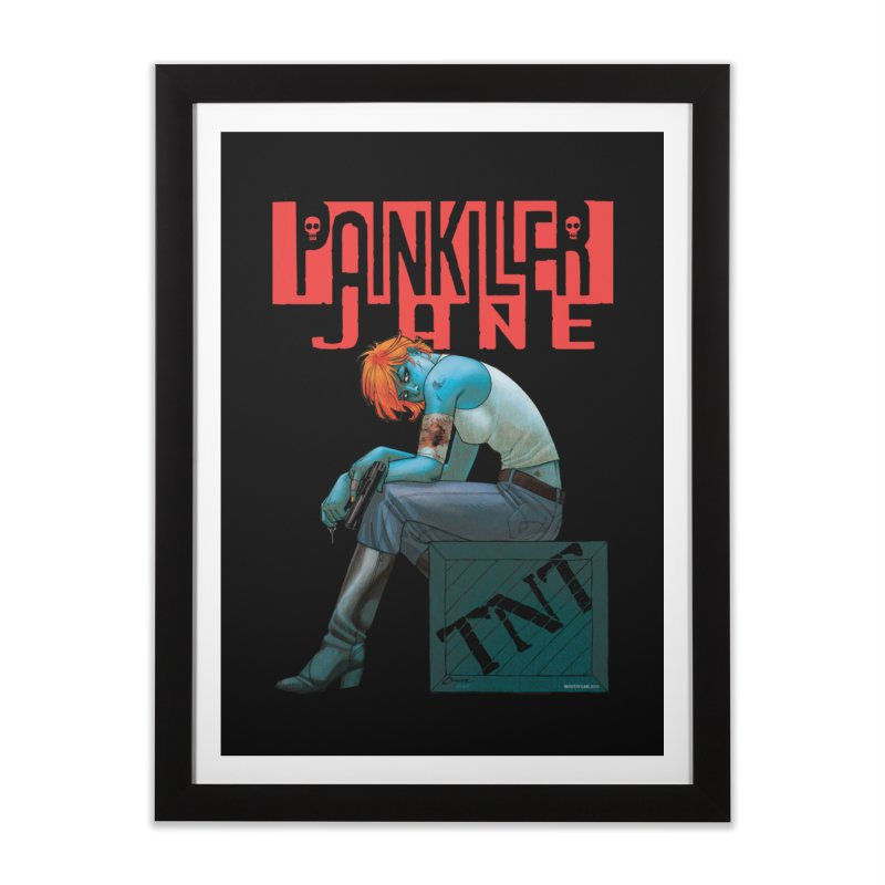 Painkiller Jane TNT - Amanda Conner in Framed Fine Art Print Black by PaperFilms's Artist Shop