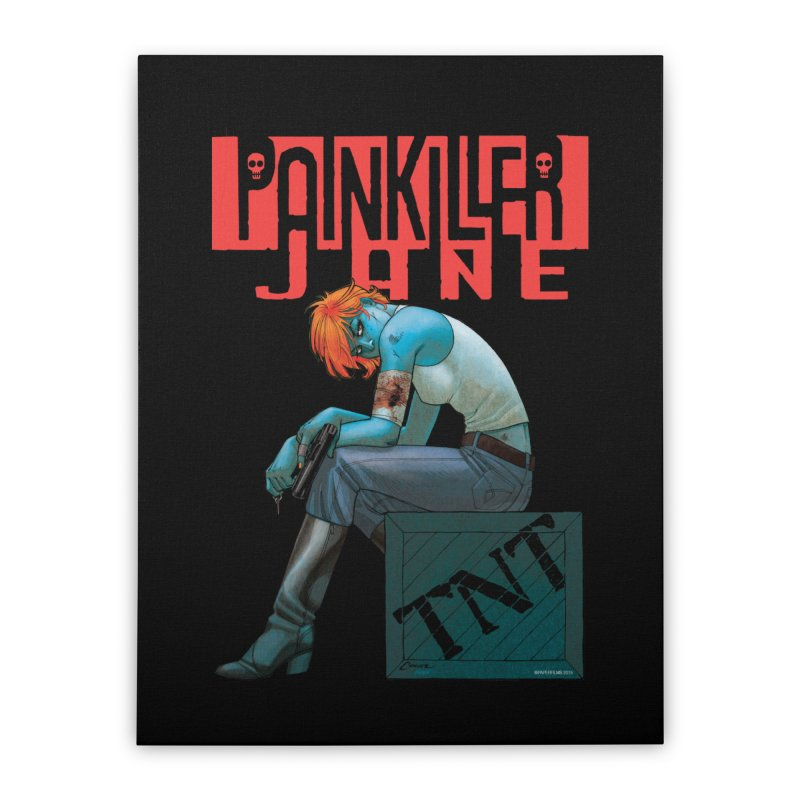 Painkiller Jane TNT - Amanda Conner Home Stretched Canvas by Paper Films