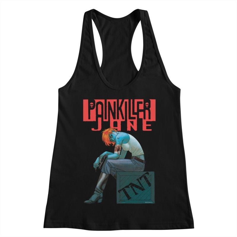Painkiller Jane TNT - Amanda Conner Women's Racerback Tank by Paper Films
