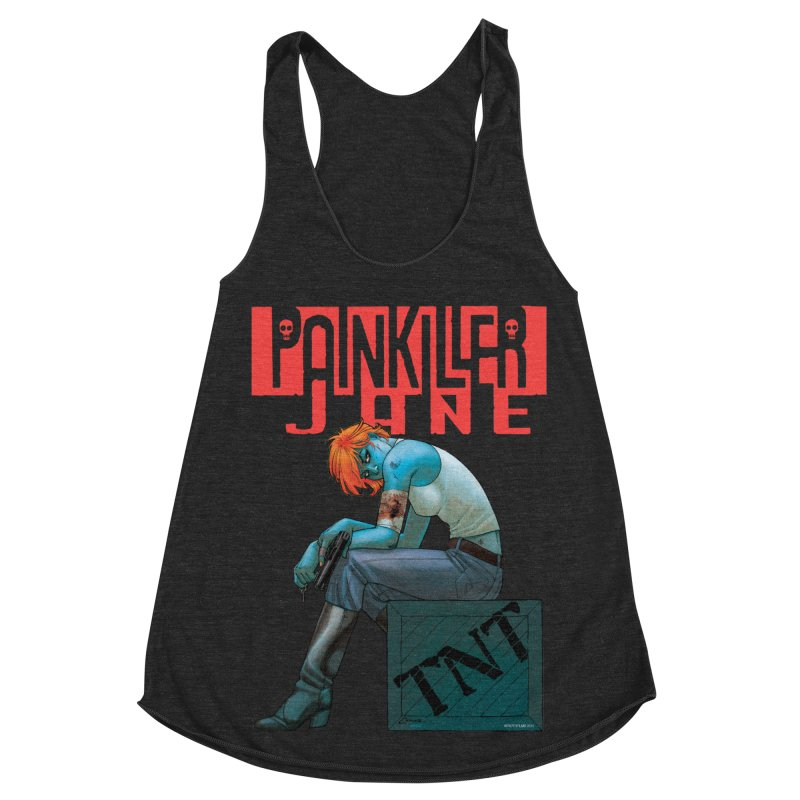 Painkiller Jane TNT - Amanda Conner Women's Racerback Triblend Tank by Paper Films
