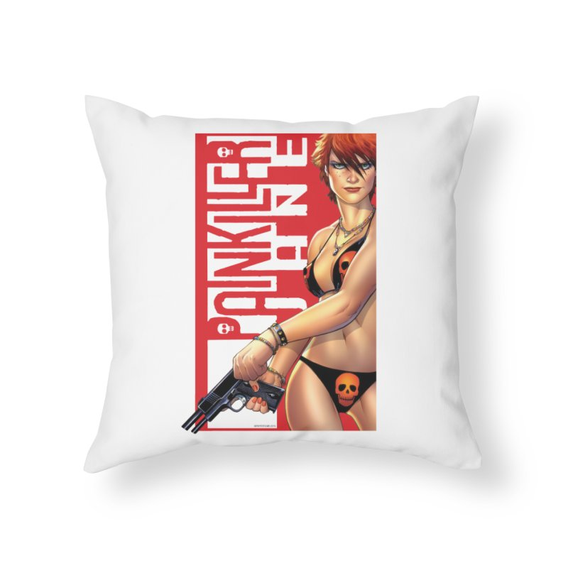 Painkiller Jane Red - Amanda Conner Home Throw Pillow by PaperFilms's Artist Shop