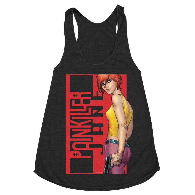 Painkiller Jane - Amanda Conner Women's Racerback Triblend Tank by Paper Films