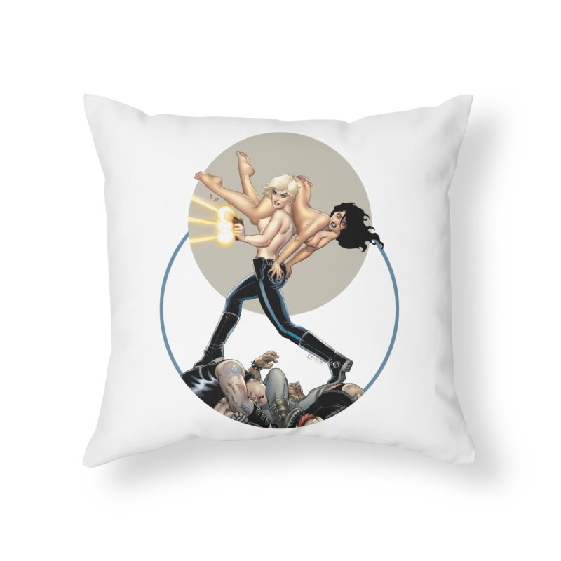 Sex & Violence - Amanda Conner Home Throw Pillow by Paper Films