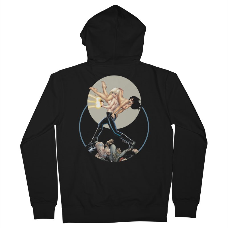 Sex & Violence - Amanda Conner Men's French Terry Zip-Up Hoody by PaperFilms's Artist Shop