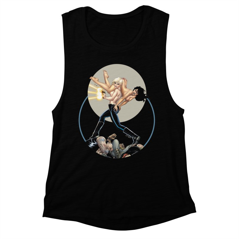Sex & Violence - Amanda Conner Women's Muscle Tank by Paper Films