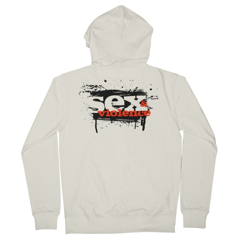 Sex & Violence - Bill Tortolini Men's French Terry Zip-Up Hoody by PaperFilms's Artist Shop