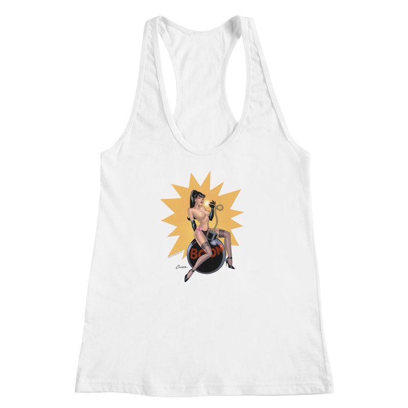 Betty Bomb - Amanda Conner Women's Racerback Tank by PaperFilms's Artist Shop