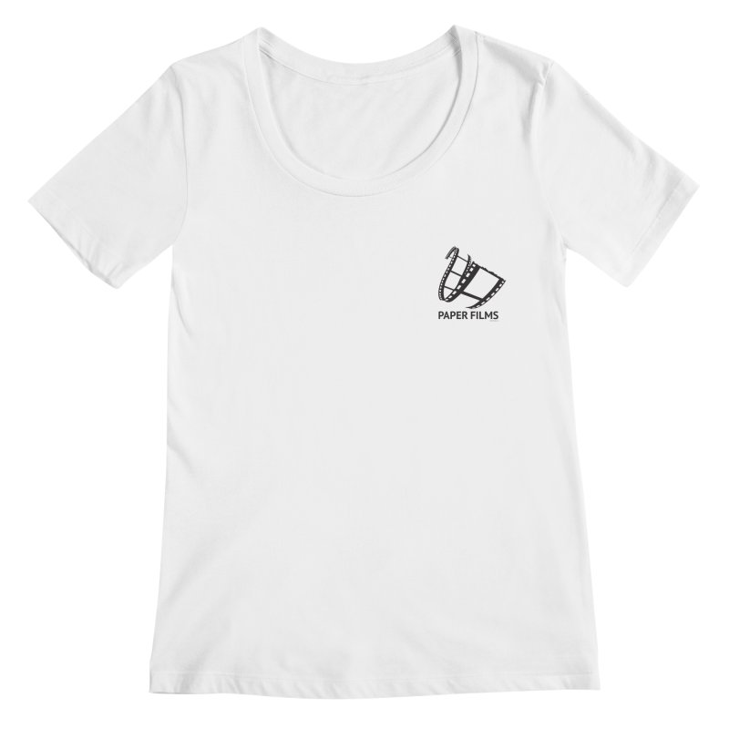 PaperFilms Logo - Bill Tortolini Women's Regular Scoop Neck by PaperFilms's Artist Shop
