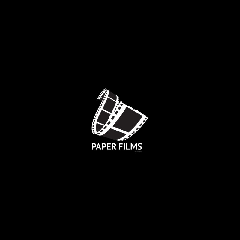 PaperFilms Black Logo - Bill Tortolini Men's Zip-Up Hoody by Paper Films