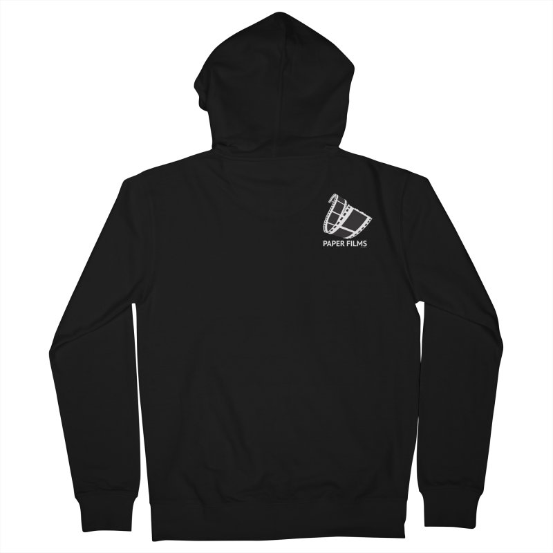 PaperFilms Black Logo - Bill Tortolini Men's French Terry Zip-Up Hoody by PaperFilms's Artist Shop