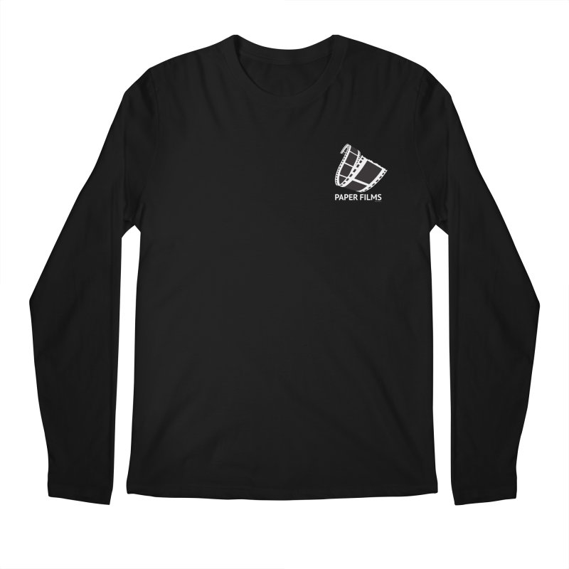 PaperFilms Black Logo - Bill Tortolini Men's Regular Longsleeve T-Shirt by Paper Films