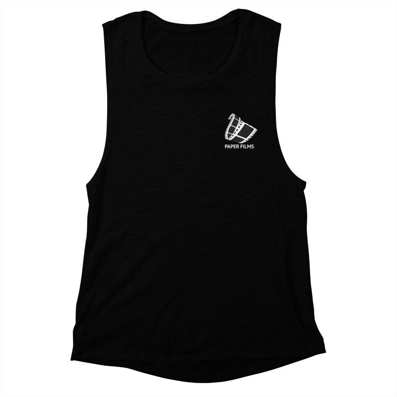 PaperFilms Black Logo - Bill Tortolini Women's Muscle Tank by Paper Films