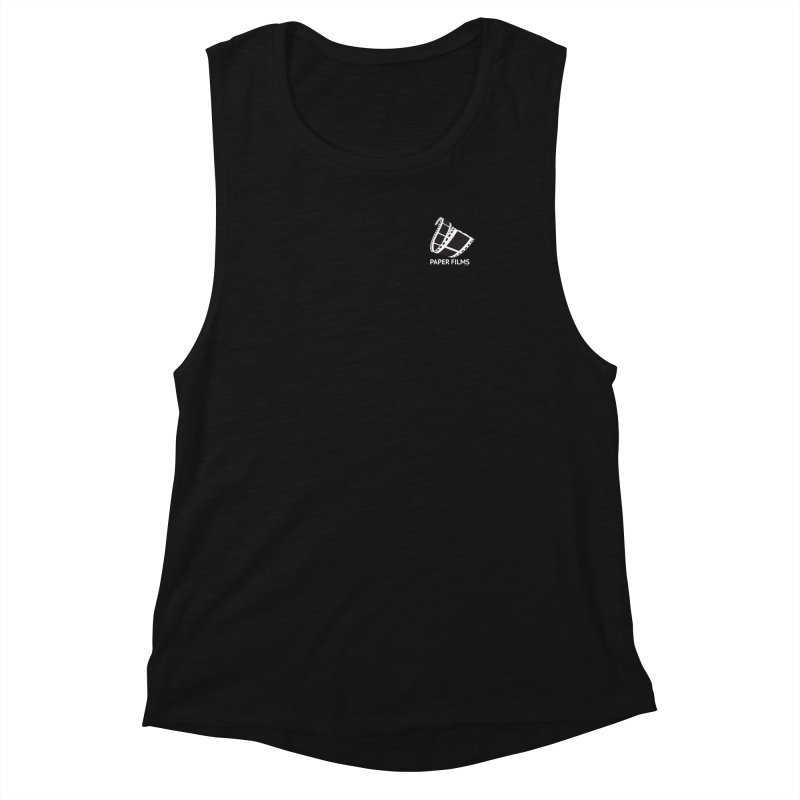 PaperFilms Black Logo - Bill Tortolini Women's Muscle Tank by PaperFilms's Artist Shop