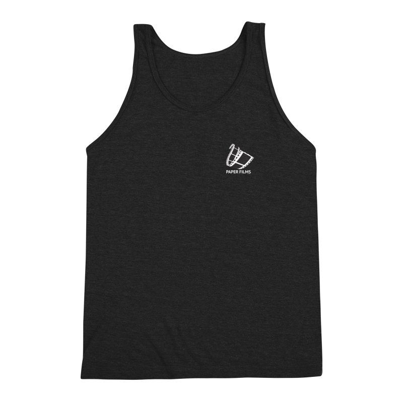 PaperFilms Black Logo - Bill Tortolini Men's Triblend Tank by PaperFilms's Artist Shop