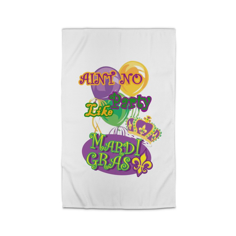 Ain't No Party Like Mardi Gras Rug Home Rug by Paranormal Gumbo