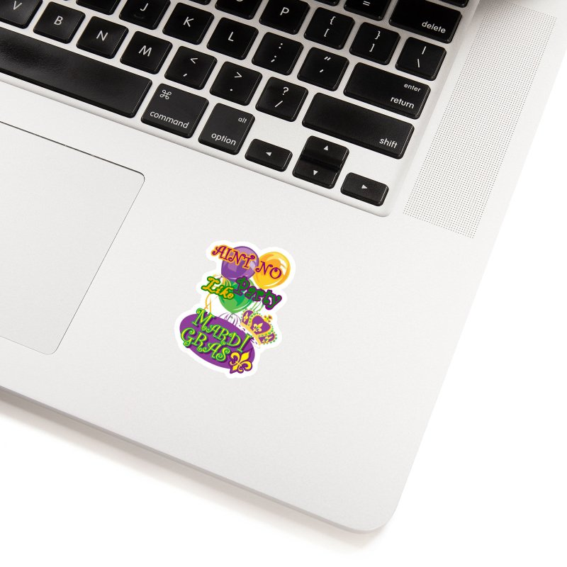 Ain't No Party Like Mardi Gras Sticker Accessories Sticker by Paranormal Gumbo