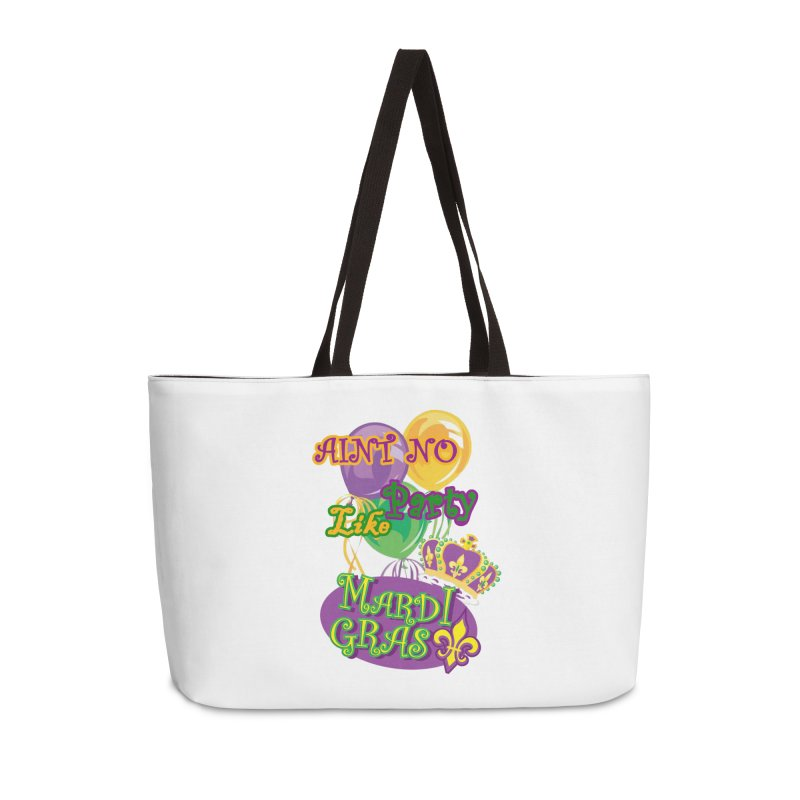 Ain't No Party Like Mardi Gras Weekender Bag Accessories Bag by Paranormal Gumbo