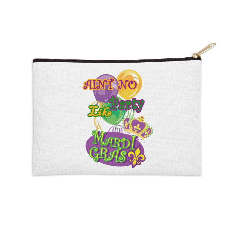 Ain't No Party Like Mardi Gras Accessories Zip Pouch by Paranormal Gumbo