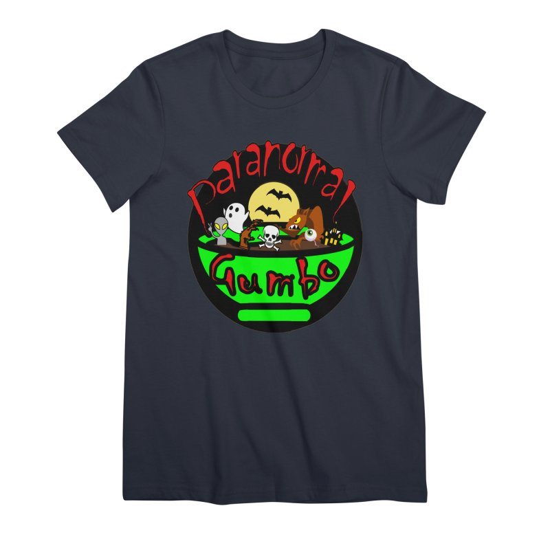 Paranormal Gumbo Original Logo Products Women's Premium T-Shirt by Paranormal Gumbo
