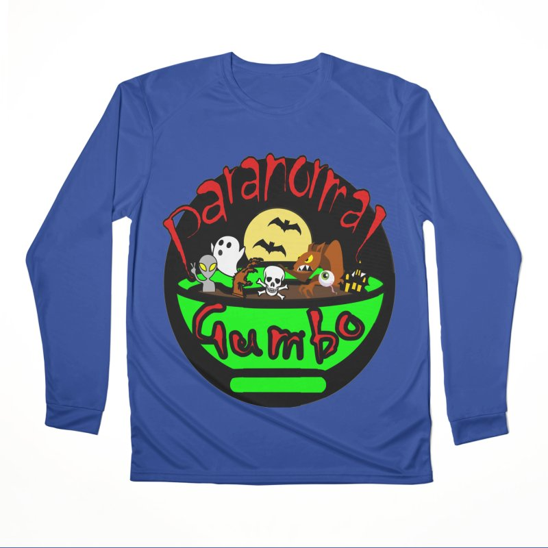 Paranormal Gumbo Original Logo Products Men's Performance Longsleeve T-Shirt by Paranormal Gumbo