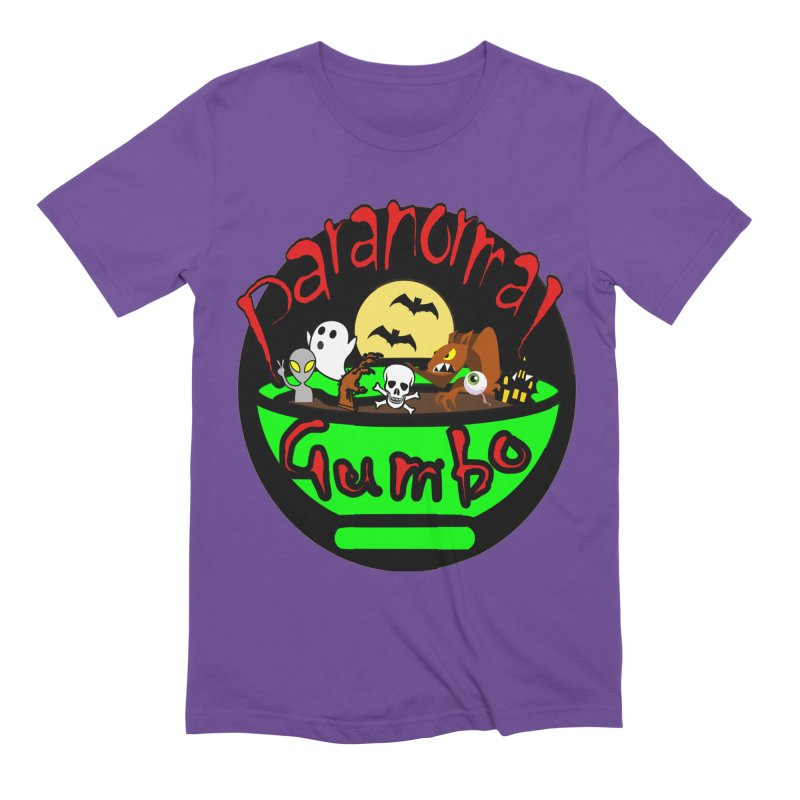 Paranormal Gumbo Original Logo Products Men's Extra Soft T-Shirt by Paranormal Gumbo