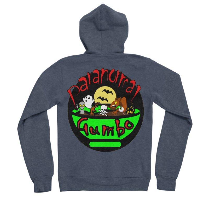 Paranormal Gumbo Original Logo Products Men's Sponge Fleece Zip-Up Hoody by Paranormal Gumbo