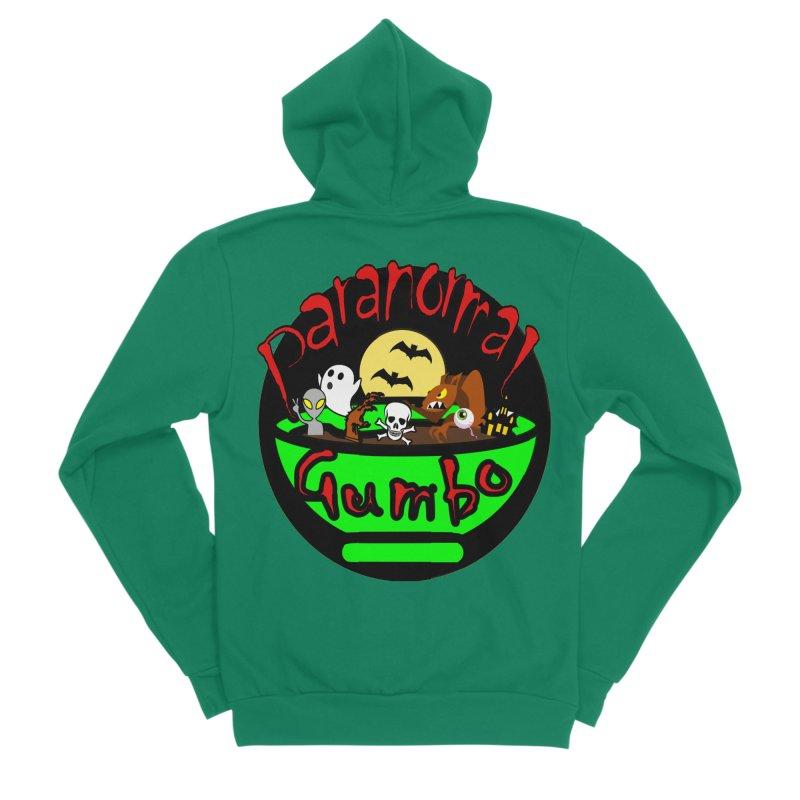 Paranormal Gumbo Original Logo Products Women's Sponge Fleece Zip-Up Hoody by Paranormal Gumbo