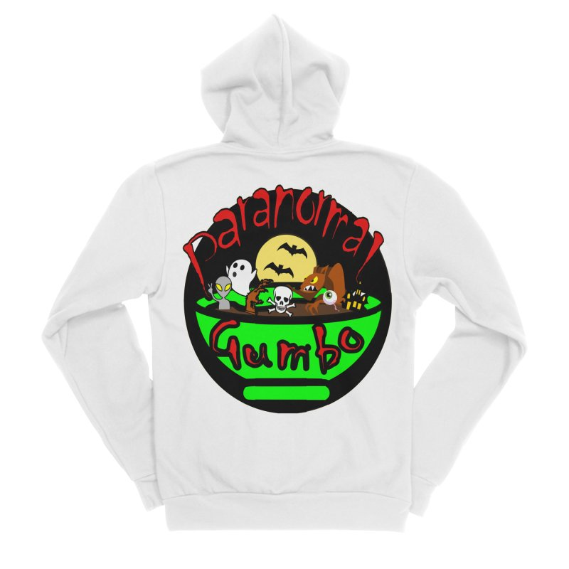 Paranormal Gumbo Original Logo Products Women's Sponge Fleece Zip-Up Hoody by Paranormal Gumbo
