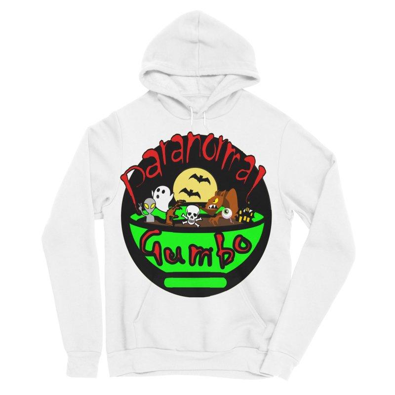 Paranormal Gumbo Original Logo Products Men's Sponge Fleece Pullover Hoody by Paranormal Gumbo