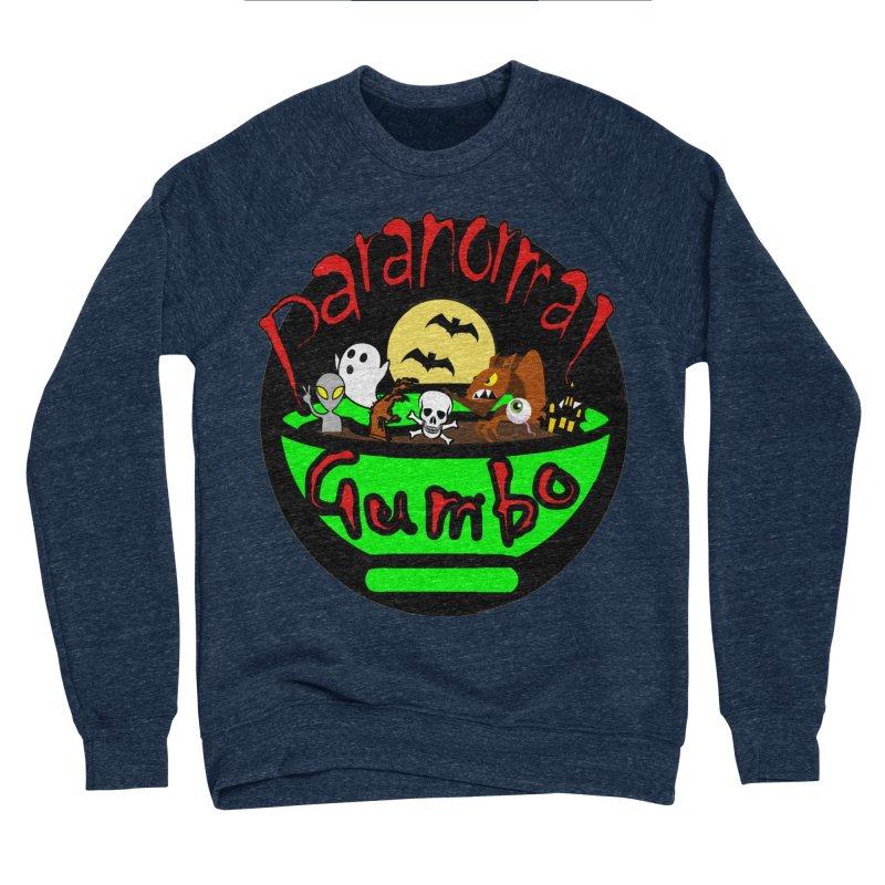Paranormal Gumbo Original Logo Products Men's Sponge Fleece Sweatshirt by Paranormal Gumbo