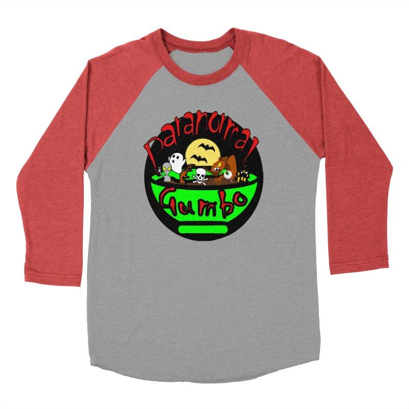 Paranormal Gumbo Original Logo Products Women's Baseball Triblend Longsleeve T-Shirt by Paranormal Gumbo