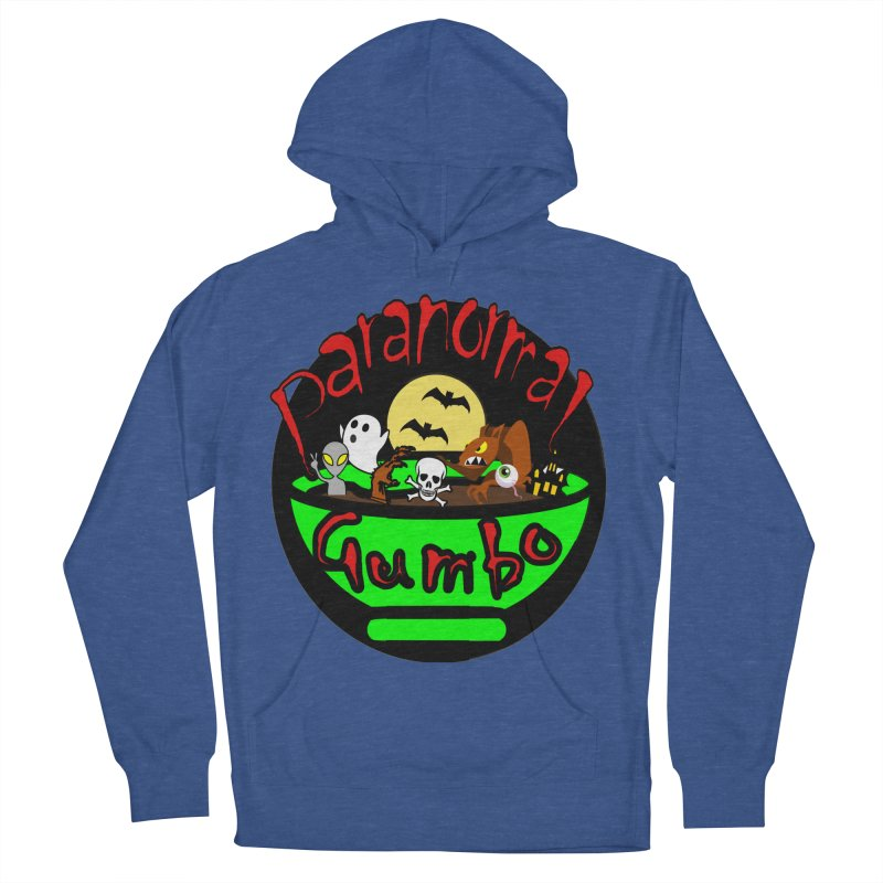 Paranormal Gumbo Original Logo Products Men's French Terry Pullover Hoody by Paranormal Gumbo