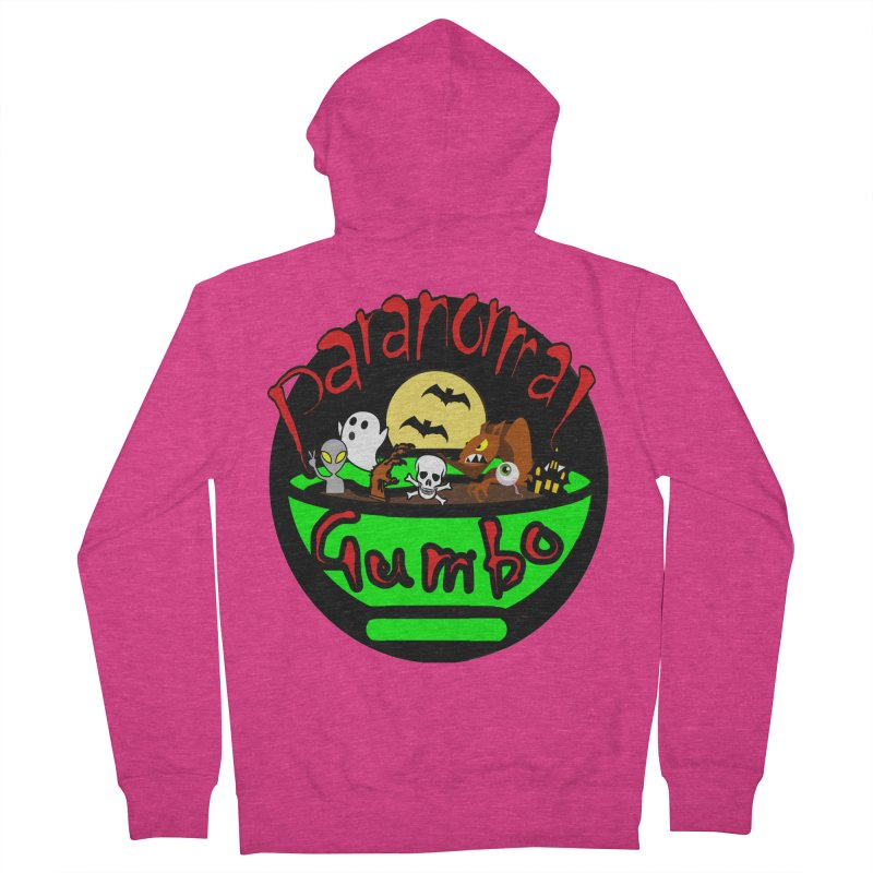 Paranormal Gumbo Original Logo Products Women's French Terry Zip-Up Hoody by Paranormal Gumbo
