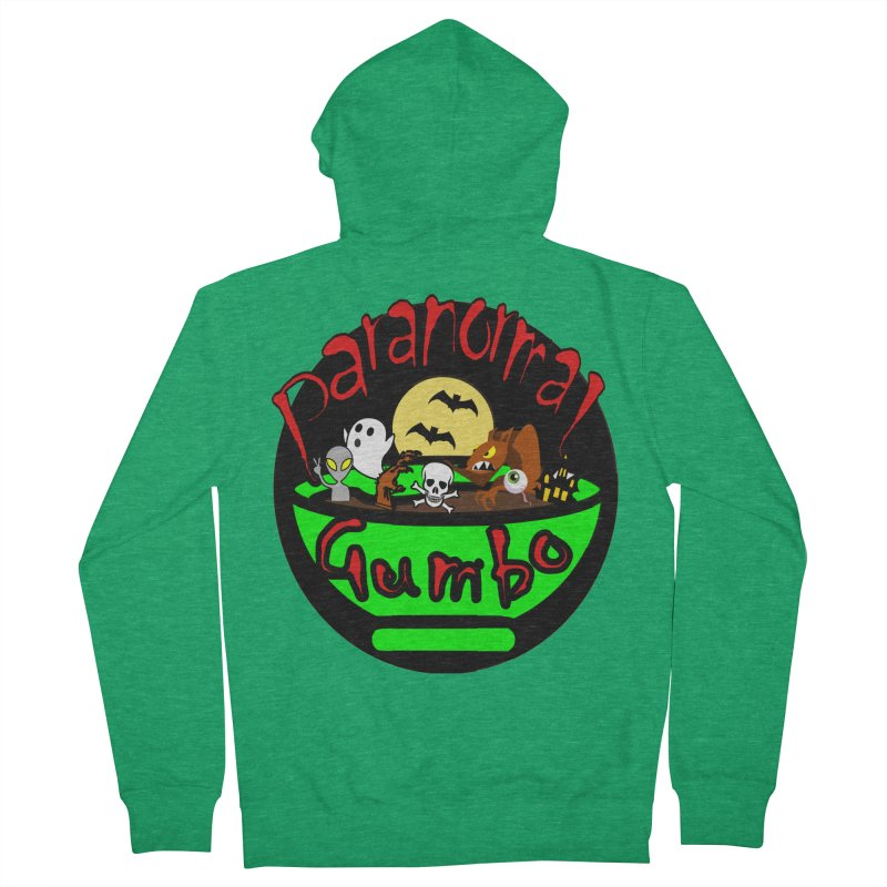 Paranormal Gumbo Original Logo Products Men's Zip-Up Hoody by Paranormal Gumbo