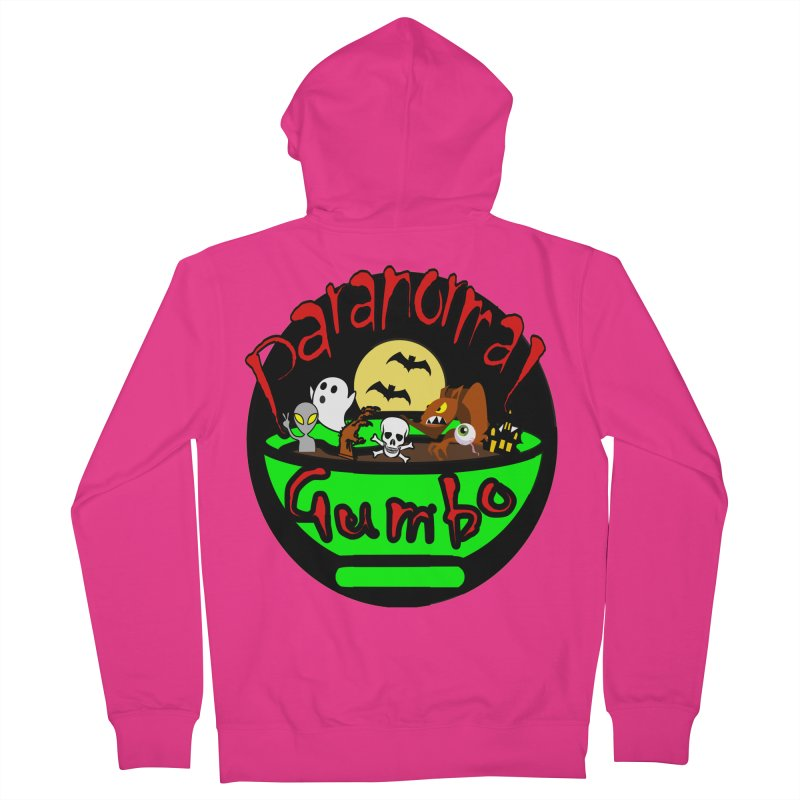 Paranormal Gumbo Original Logo Products Men's French Terry Zip-Up Hoody by Paranormal Gumbo