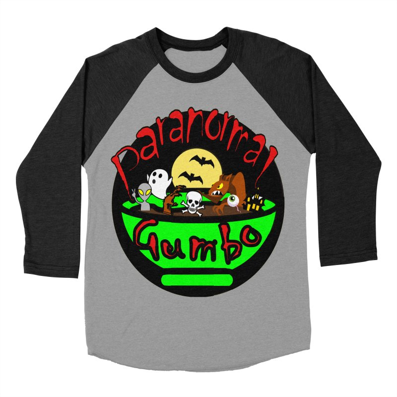 Paranormal Gumbo Original Logo Products Women's Baseball Triblend Longsleeve T-Shirt by Paranormal Gumbo