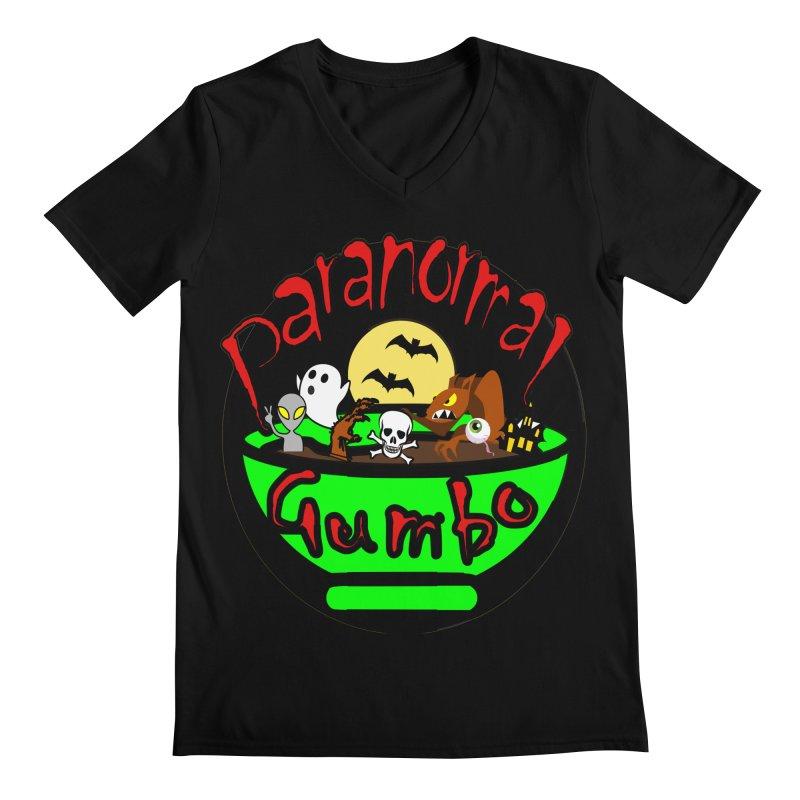 Paranormal Gumbo Original Logo Products Men's Regular V-Neck by Paranormal Gumbo