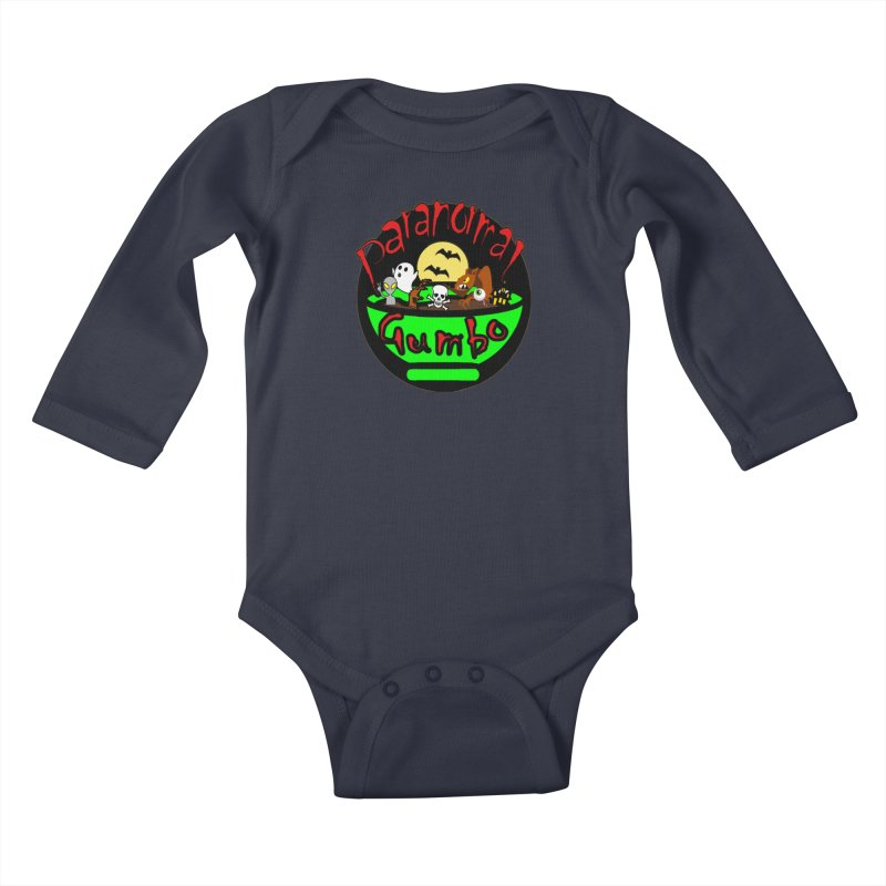 Paranormal Gumbo Original Logo Products Kids Baby Longsleeve Bodysuit by Paranormal Gumbo