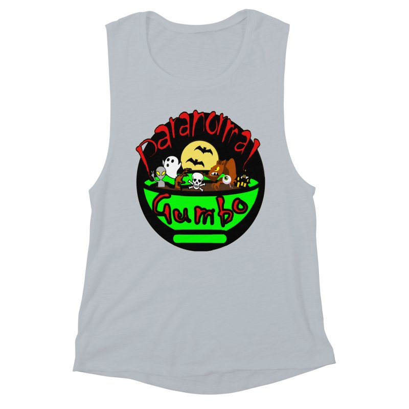 Paranormal Gumbo Original Logo Products Women's Muscle Tank by Paranormal Gumbo