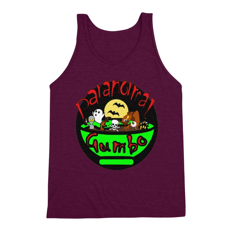 Paranormal Gumbo Original Logo Products Men's Triblend Tank by Paranormal Gumbo
